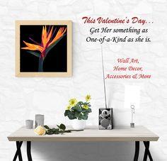 Birds of Paradise #WallArt #GiftsforHer #ValentinesDayGift #flowerlovers #paradise #beauty #romantic