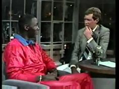 Michael Jordan when he has 23 years old on David Letterman.