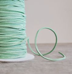 mint green suede cord