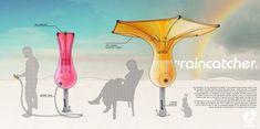 Raincatcher: Inverted umbrella blooms into rainwater harvester