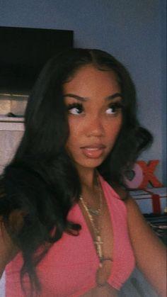 Baddie Hairstyles, Black Girls Hairstyles, Weave Hairstyles, Beautiful Black Girl, Pretty Black Girls, Black Girl Aesthetic, Aesthetic Hair, Curly Hair Styles, Natural Hair Styles
