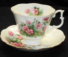 Royal Albert Rosy Pink Wild Roses TEA CUP AND Saucer England | eBay