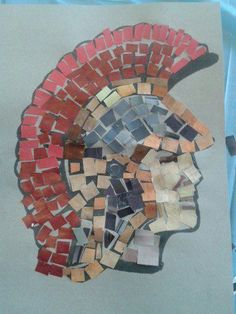 69 ideas for roman mosaic art for kids how to make Romans Ks2, Rome Activities, Mosaics For Kids, Greece Art, Obelix, Mosaic Art Projects, Rome Antique, Empire Romain, Art Lessons For Kids