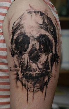 Optical illusion skull by Dmitriy Samohin