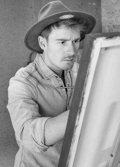 """Ich hielt nie besonders viel davon Kunst zu studieren. """"Als Künstler kann man nicht gut leben, vor allem nicht in Osttirol"""". Solche und ähnliche Sätze... Cowboy Hats, Biography, Ladder, To Study, Drawing S, Kunst"""