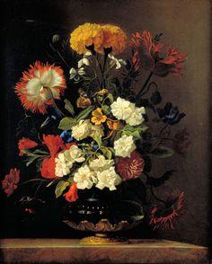 """Still Life in a Vase"" by Willem van Aelst"