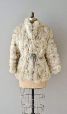 Silver Fox fur coat / vintage 70s fox fur coat / by DearGolden, $335.00
