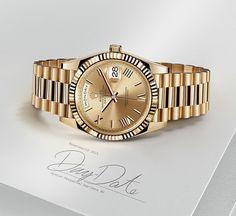 Rolex Day-Date - Die Uhr von Prestige Rolex Day Date, Rolex Watches For Men, Luxury Watches For Men, Cool Watches, Smart Bracelet, Bracelet Watch, Mens Gold Bracelets, Titanium Watches, Wear Watch