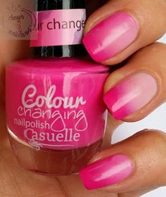 365 days of nail art - Swatch Casuelle Colour changing nailpolish Feel like daydream dancing