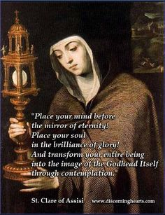 August 11 – Today we celebrate the life of St Clare of Assisi