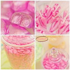 Pink Candy by JoyHey, via Pastel Candy, Colorful Candy, Pink Candy, Pink Chocolate, Chocolate Hearts, Candy Jars, Candy Buffet, Types Of Candy, Baby Pink Colour