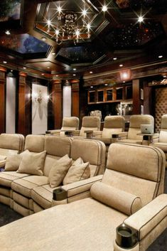 If you're planning to add one to your place, then you need to check out these tips that will help you bring the true cinematic experience to your house. [Luxury Home Theatre Design, Home Theater Ideas, Luxury Home Theatre Interior Design, Home Thea Home Cinema Room, Home Theater Decor, Best Home Theater, At Home Movie Theater, Home Theater Rooms, Home Theater Seating, Home Theater Design, Luxury Movie Theater, Theater Seats