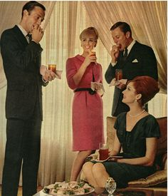 vintage photos cocktail parties | Vintage Cocktail Party: Image courtesy of Fauxology.com