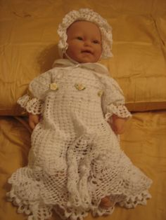 Christening Dress/Hat/Booties Crochet Pattern - unique and nostalgic
