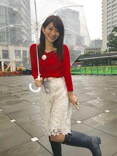 Yamamoto, Asian Woman, Rain Boots, Lace Skirt, Raincoat, Lady, Womens Fashion, Skirts, Naver