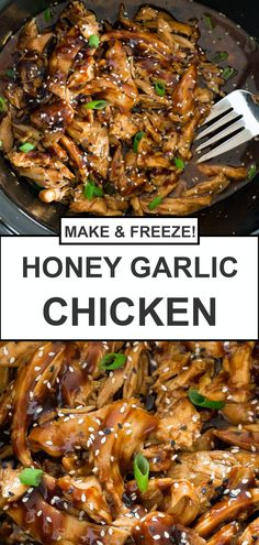 Slow Cooker Honey Garlic Chicken This Slow Cooker Recipes is so flavorful. The best recipe you'll ever have! Healthy Slow Cooker, Slow Cooker Recipes, Cooking Recipes, Crockpot Asian Recipes, Cooking Tips, Slow Cooked Meals, Meals To Cook, Healthy Crockpot Chicken Recipes, Slow Cooker Dinners