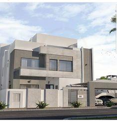 Classic House Exterior, Classic House Design, Modern Exterior House Designs, Duplex House Design, House Front Design, Dream House Exterior, Exterior Design, House Architecture Styles, Modern House Facades
