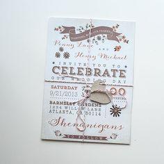 Wedding Invitation / / Rustic Fall Wedding by YellowDoorCreative, $2.50