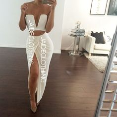 #OOTD Twist Of Fate Skirt paired with Our Ivory V Wire Crop by jaideclothing http://ift.tt/1vHGE26