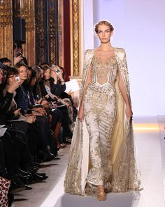 Please god, say long capes come back!!! - Zuhair Murad in Paris Fashion Week 2013