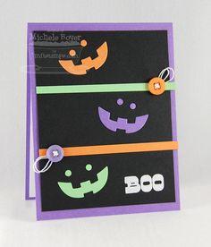 Trick or Sweet; Paper Bag Peek-a-Boos Die-namics; Flower Border Die-namics - Michele Boyer