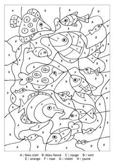 Pour imprimer ce coloriage gratuit «coloriage-magique-lettres-poissons», cliquez sur l'icône Imprimante situé juste à droite