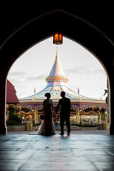 A portrait session fit for royalty at Disney's Magic Kingdom. Photo: Beth at Disney Fine Art Photography