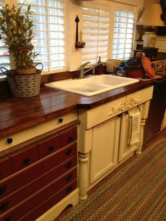 Old World Manufactured Home Kitchen Remodel  another very good remodel job.   also taking re use doors and furniture to make a statement.
