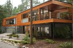 Purpose built for the Twilight Breaking Dawn movie - an ultra cool timber framed post modern house Squamish, B. Cullen House Twilight, Future House, Casas Containers, Forest House, House Goals, House In The Woods, My Dream Home, Exterior Design, Modern Exterior
