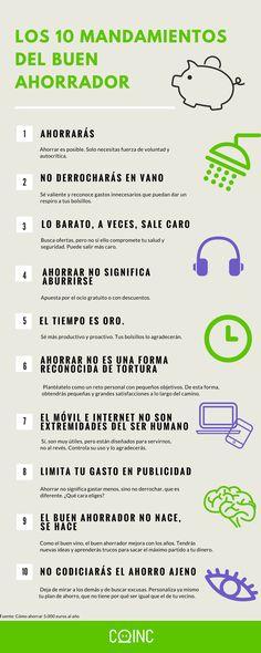 Los diez mandamientos del buen ahorrador - #infografía