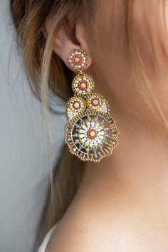 Seed Bead Jewelry, Bead Jewellery, Seed Bead Earrings, Diy Earrings, Leather Earrings, Fashion Earrings, Beaded Jewelry, Handmade Beads, Earrings Handmade