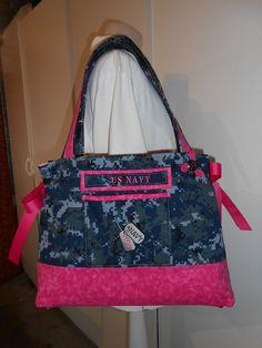 Custom Made Proud Navy Mom Purse http://CustomMadebyLisa.com