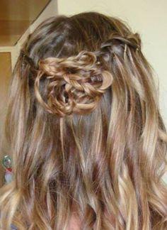Plaits hair up curls