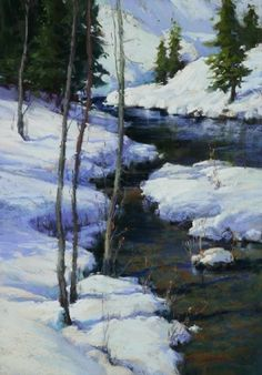 Cool and Crisp, High Sierra  Pastel by Kim Lordier