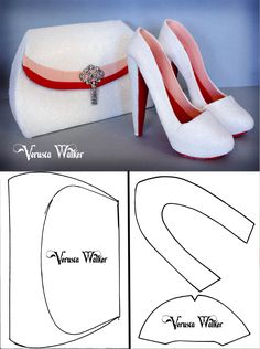 Glitter Bag with Close shoe templates by Verusca Walker