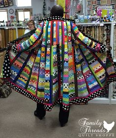 "~Rachel Clark modeling her ""It's All About the Dots"" coat."