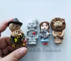 Clay Wizard of Oz themed characters 4pcs SET by CatabellaCreations