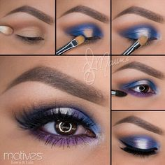 Pretty purple eye make up