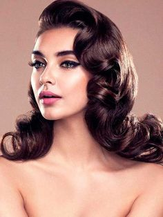 6887ceca5 finger waves braid crown - Google Search Retro Wedding Hairstyles, Glam  Hairstyles, Bridal Party