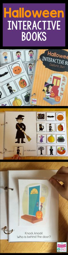 These fun Halloween interactive books are great for preschoolers and non-verbal students.