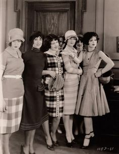 Clara Bow shows off her fashionable friends in 'Rough House Rosie', 1927