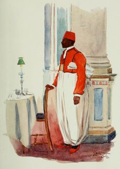 Thackeray, Lance (1869-1916) - The People of Egypt 1916, Waiter. #nile, #egypt, #africa