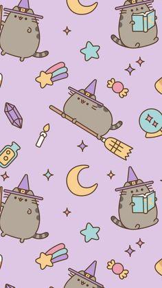Wallpaper Doodle, Tumblr Iphone Wallpaper, Cute Cat Wallpaper, Drawing Wallpaper, Soft Wallpaper, Cute Patterns Wallpaper, Kawaii Wallpaper, Pusheen Christmas, Homemade Squishies