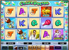 Online Machine Crazy Doctor for money. This online slot is in the humorous style and is dedicated to medical topics. It has 5 reels and 20 paylines. The machine Crazy Doctor present Scatter symbols and Wild, as well as a bonus game, a round of doubling mode and free spins.  A large variety of bonus games in the online unit Crazy
