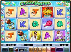 オンラインスロットマシンCrazy Doctorお金のために. このオンラインスロットは、ユーモラスなスタイルであり、医療のトピックに捧げられています。これは、5リール、20ペイラインを持っています。スロットマシンCrazy Doctorは、本分散記号およびワイルドだけでなく、ボーナスゲーム、モードとフリースピンを倍のラウンド。  オンラインスロットマシンCr