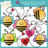 FREE - Valentine's Day Bee Clip Art
