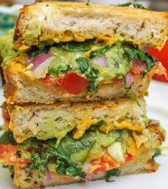 Bacon Guacamole Grilled Cheese Sandwich | Food Recipes