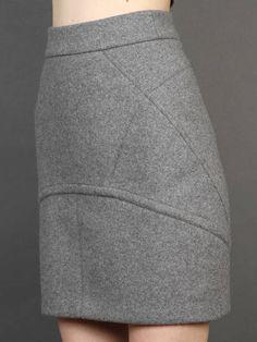 Silverlight w/ T by Alexander Wang bonded neoprene skirt