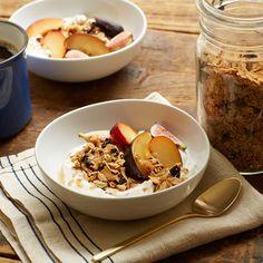 Cherry and Coconut Granola with Yogurt