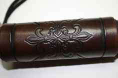 Leather Hand Tooled Fleur De Lis Motorcycle Grip Cover | Mark's ...